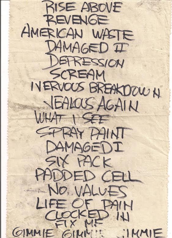 bf setlist