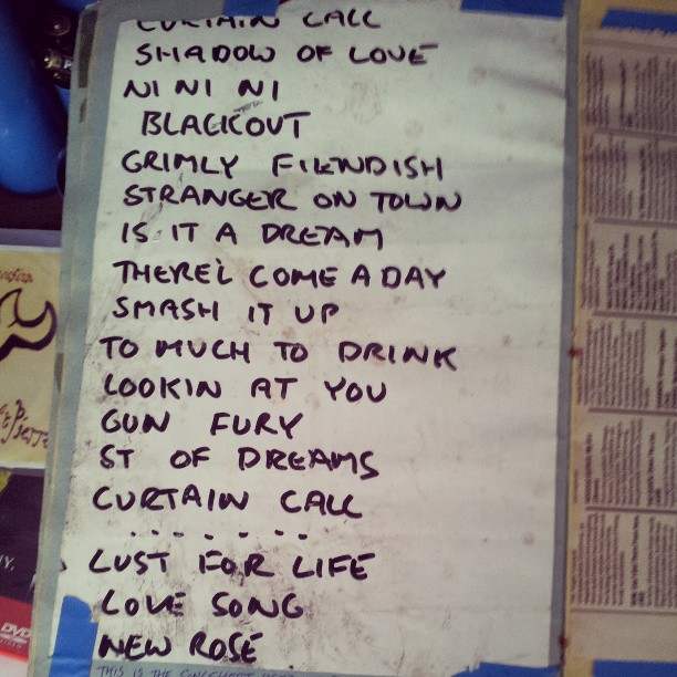 Damned Set list